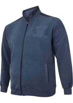 Bluza męska rozpinana - niebieski Bigsize okazja BigSize - kod rabatowy