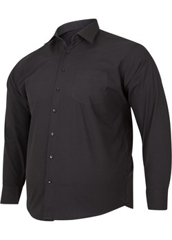 Koszula męska gładka czarna - casual Bigsize promocja BigSize - kod rabatowy