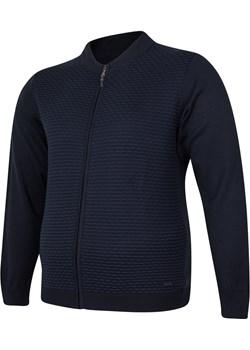 Sweter męski rozpinany granatowy Evolution Bigsize okazja BigSize - kod rabatowy