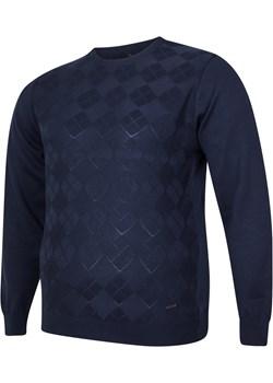 Sweter męski pod szyje granatowy Bigsize promocja BigSize - kod rabatowy