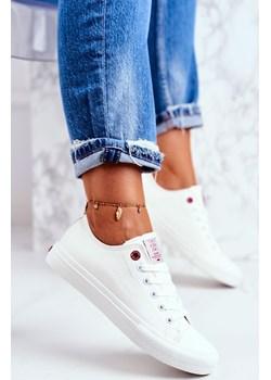 Damskie Trampki Cross Jeans Białe DD2R4030 Cross Jeans wyprzedaż bugo. - kod rabatowy