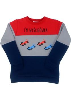 Dziecięca bluza dresowa dla chłopca, granatowa, czerwona, Wyścigówka 1-2 lat (86/92) Fluffy Fluffy - kod rabatowy