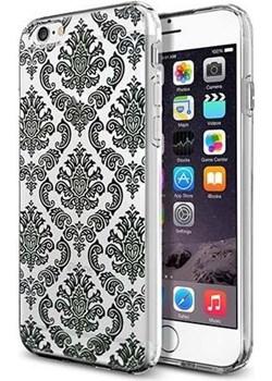 Silikonowe etui na iPhone 6 / 6s crystal case henna barok - czarne. PROMOCJA!!! Etuistudio okazja Etuistudio - kod rabatowy