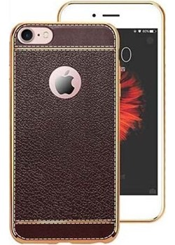 Etui na iPhone 7 silikonowe platynowane TPU Slim skóra - brązowe. Etuistudio wyprzedaż Etuistudio - kod rabatowy