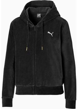PUMA Velvet Full Zip Women's Hoodie, Czarny, rozmiar XS, Odzież Puma promocja PUMA EU - kod rabatowy