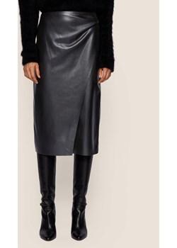 Boss Spódnica skórzana Valedy 50437330 Czarny Slim Fit promocyjna cena MODIVO - kod rabatowy
