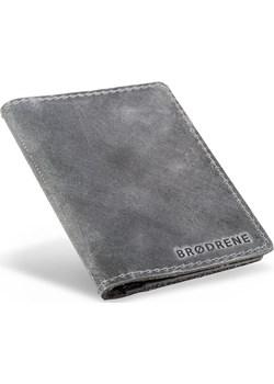 Cienki męski portfel skórzany Brodrene SW01 S  Brodrene Galmark - kod rabatowy