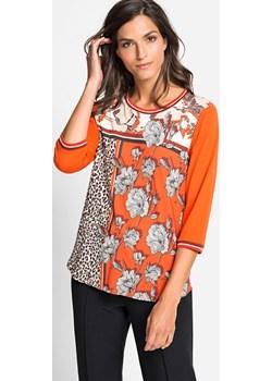 Bluzka we wzory French Bourgeois 11103745  Pomarańczowy 38 Olsen Olsen - kod rabatowy