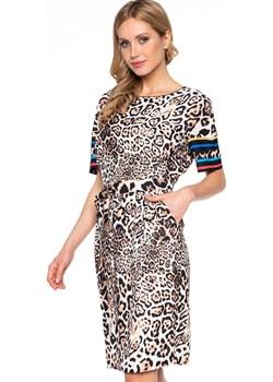 Sukienka w zwierzęcy print Potis & Verso RANIA Potis & Verso okazja Eye For Fashion - kod rabatowy