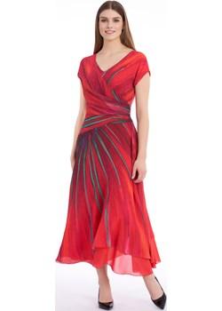 Zwiewna czerwona sukienka Potis & Verso VEDA Potis & Verso promocja Eye For Fashion - kod rabatowy