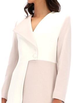 Elegancki dwukolorowy płaszcz Ella Boo E-20AW-6631-01 Ella Boo Eye For Fashion - kod rabatowy