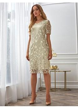 Sukienka z połyskującymi haftami Potis & Verso ARGENTINA Potis & Verso Eye For Fashion promocyjna cena - kod rabatowy