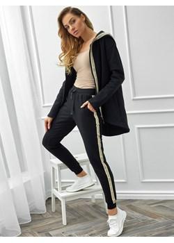 Spodnie dresowe z lampasami z wiązaniem Eye For Fashion RYLIE Eye For Fashion Eye For Fashion - kod rabatowy