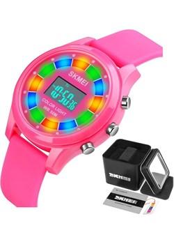 Zegarek dziecięcy SKMEI 1596 różowy LED Skmei skmei.shop - kod rabatowy