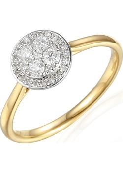 Pierścionek ze złota z diamentami AW 61528 YW próba 585 Sezam promocja Jubiler Sezam - kod rabatowy