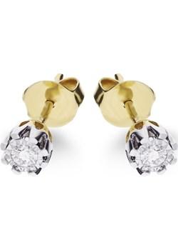 Kolczyki złote z diamentami nr KU 36570 Y Sezam Jubiler Sezam - kod rabatowy