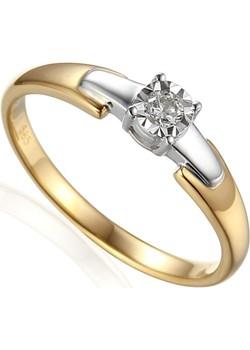 Pierścionek zareczynowy z diamentem SOLITER nr AW 61129 YW próba 585 Sezam Jubiler Sezam okazja - kod rabatowy