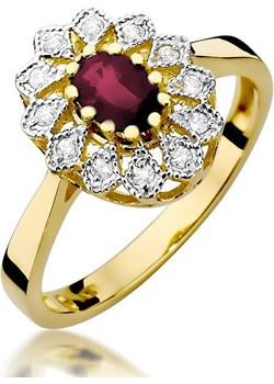 Pierścionek zaręczynowy z rubinem i diamentami nr BE W-354 rubin KATE próba 585 Sezam promocja Jubiler Sezam - kod rabatowy