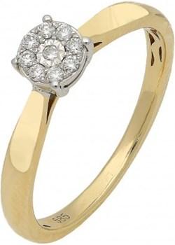 Pierścionek złoty z diamentami SWEET  AW 53536 YW próba 585 Sezam promocyjna cena Jubiler Sezam - kod rabatowy