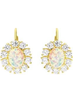 Kolczyki z kamieniami szlachetnymi opal biały nr FL002K próba 585 Sezam promocja Jubiler Sezam - kod rabatowy