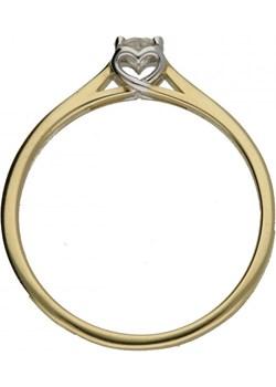Pierścionek złoty z diamentem Amado nr RS RS0359 serce w koronie próba 585 SERCE Sezam okazja Jubiler Sezam - kod rabatowy