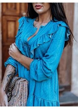 Sukienka  BLUE SPRING promocyjna cena lafemmeboutique.pl - kod rabatowy