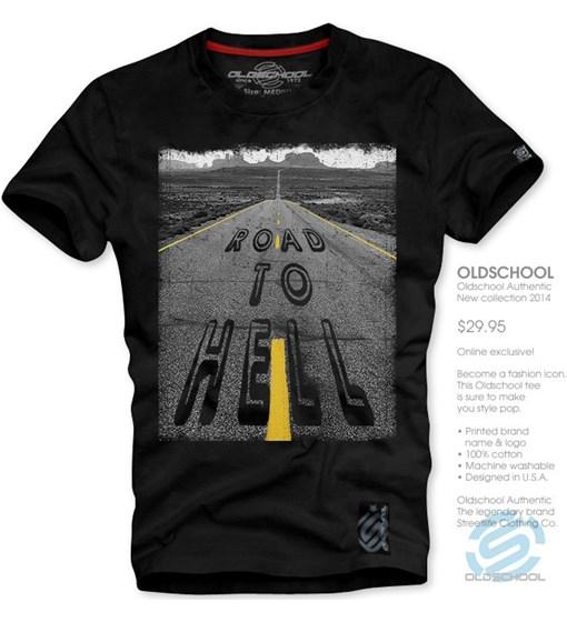 T-shirt męski Oldschool - morillo
