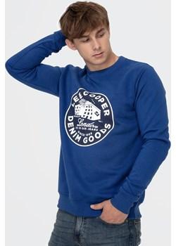 Bluza z okrągłym nadrukiem KURT 2020 BLUE Lee Cooper wyprzedaż Lee Cooper - kod rabatowy