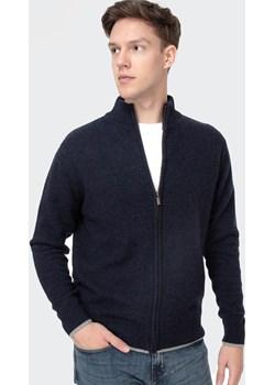 Sweter rozpinany z delikatnej owczej wełny BERN TOL NAVY MELANGE Lee Cooper wyprzedaż Lee Cooper - kod rabatowy