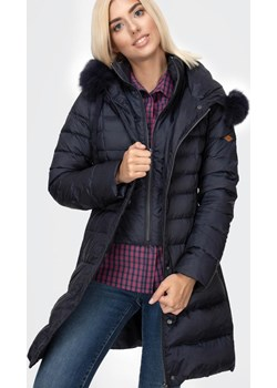 Puchowa pikowana kurtka z kapturem LIDIA 1018 NAVY Lee Cooper wyprzedaż Lee Cooper - kod rabatowy