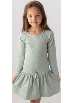 Sukienka miętowa w serca dla dziewczynki 98 Jesień/Zima Myprincess / Lily Grey okazyjna cena MKA GROUP - kod rabatowy