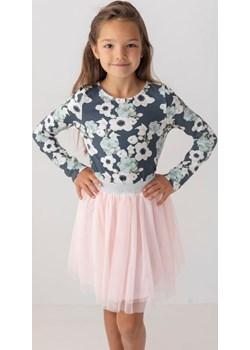 Bluzka szara w kwiaty dla dziewczynki 98 Jesień/Zima Myprincess / Lily Grey MKA GROUP wyprzedaż - kod rabatowy