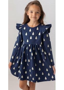 Granatowa sukienka w krople dla dziewczynki 98 Jesień/Zima Myprincess / Lily Grey MKA GROUP okazja - kod rabatowy
