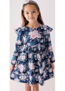 Niebieska sukienka w róże dla dziewczynki 98 Jesień/Zima Myprincess / Lily Grey promocja MKA GROUP - kod rabatowy