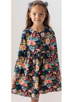 Granatowa sukienka w kwiaty dla dziewczynki 98 Jesień/Zima Myprincess / Lily Grey okazja MKA GROUP - kod rabatowy