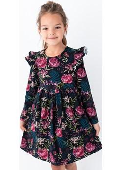 Czarna sukienka dla dziewczynki w peonie i paprocie 98 Jesień/Zima Myprincess / Lily Grey MKA GROUP - kod rabatowy