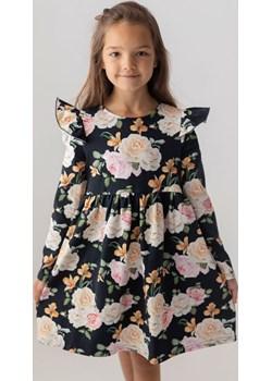Czarna sukienka w kwiaty dla dziewczynki 98 Jesień/Zima Myprincess / Lily Grey wyprzedaż MKA GROUP - kod rabatowy