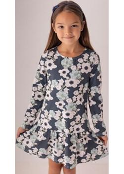 Szara sukienka w kwiaty dla dziewczynki 98 Jesień/Zima Myprincess / Lily Grey wyprzedaż MKA GROUP - kod rabatowy