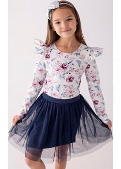 Biała bluzka w kwiaty dla dziewczynki 98 Jesień/Zima Myprincess / Lily Grey MKA GROUP - kod rabatowy