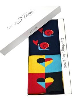Skarpetki na prezent ślimak/kolory serca Regina Socks Estera Shop - kod rabatowy