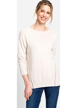 Kremowy sweter damski Good Vibes 11003379 Kremowy 46 Olsen okazja Olsen - kod rabatowy