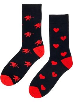 Skarpetki na walentynki amor czarny Regina Socks Estera Shop - kod rabatowy