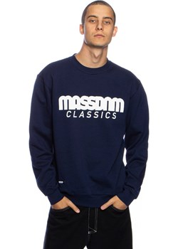 Bluza Mass Denim Sweatshirt Crewneck Classics granatowa Mass Denim shop.massdnm.com okazyjna cena - kod rabatowy