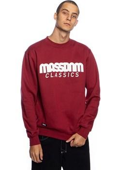 Bluza Mass Denim Sweatshirt Crewneck Classics bordowa Mass Denim wyprzedaż shop.massdnm.com - kod rabatowy