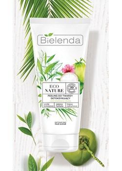 ECO NATURE - Woda kokosowa + Zielona Herbata + Trawa Cytrynowa - peeling do twarzy detoksykujący, 150 g Bielenda promocyjna cena Bielenda - kod rabatowy