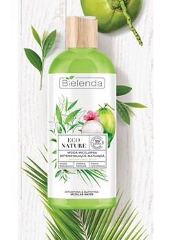 ECO NATURE - Woda kokosowa + Zielona Herbata + Trawa Cytrynowa - woda micelarna do oczyszczania i demakijażu detoksykująco-matująca, 500 ml Bielenda okazyjna cena Bielenda - kod rabatowy