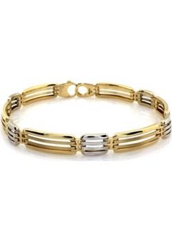 Złota męska bransoletka 585 z białym złotem 11.78g Lovrin LOVRIN - kod rabatowy