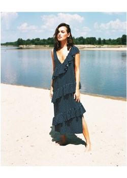 Sukienka Polka Dot Frill granatowy S Lago efancy.pl - kod rabatowy