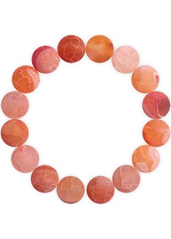 Bransoletka z czerwono-pomarańczowego, matowego agatu 12 mm S Caviallo bialy caviallo.eu - kod rabatowy