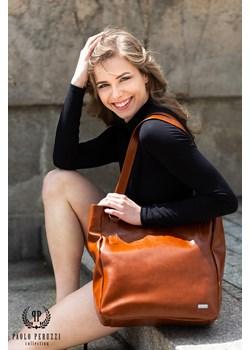 Duża skórzana torba damska na ramię paolo peruzzi z-09-cg Paolo Peruzzi SuperGalanteria.pl wyprzedaż - kod rabatowy